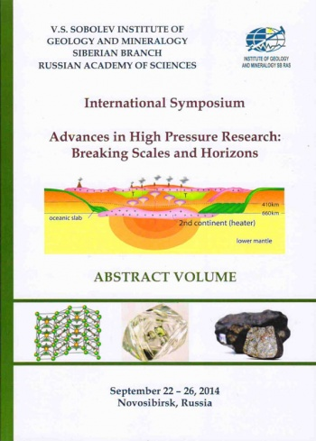 "International Symposium ""Advances in High Pressure Research: Breaking Scales and Horizons"", September 22-26, 2014, Novosibirsk, Russia: Abstracts volume"